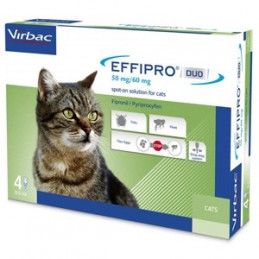 Virbac-Effipro Duo Gatto ( 4 pipette) -