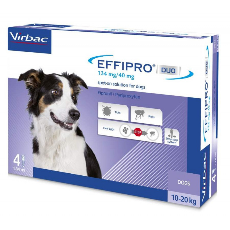 Virbac-Effipro Duo Cane 10-20 kg (4 pipette) -