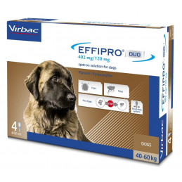 Virbac-Effipro Duo Cane 40-60 kg (4 pipette) -