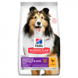 Hill's Cane adult sensitive stomach & skin medium pollo 12 kg -