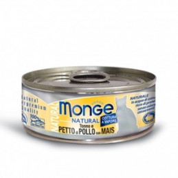 Monge Gatto Natural Superpremium Tonno-Petto di Pollo-Mais 80 gr