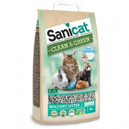SANICAT Lettiera Clean & Green Cellulosa 10 lt. -