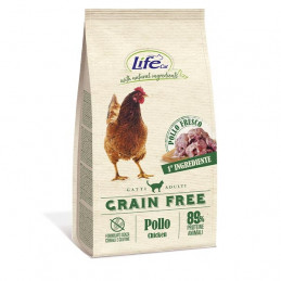 LIFE PET CARE Natural Ingredients Adult Grain Free con Pollo e Patate 400 gr. -