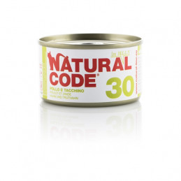 Natural Code - 30 Pollo e Tacchino in Jelly 85 gr. -