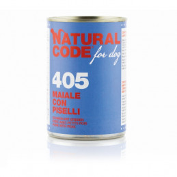 Natural Code - For Dog 405 Maiale con Piselli 400 gr. -