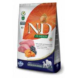 Farmina n&d pumpkin grain free adult medio maxi agnello zucca e mirtillo 12 kg -