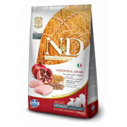 Farmina n&d low grain cane puppy medio farro avena pollo e melograno 2,5 kg -