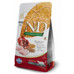 Farmina n&d low grain gatto farro avena pollo melograno 5 kg -