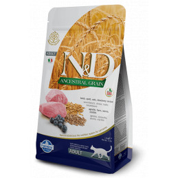 Farmina n&d low grain gatto farro avena agnello e mirtillo 1,5 kg -