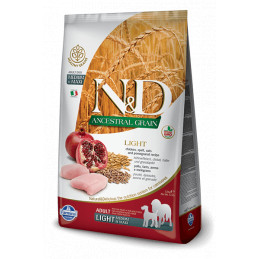 Farmina n&d low grain cane light medio maxi farro avena pollo e melograno 12 kg -