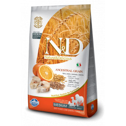 Farmina n&d low grain cane medio farro avena merluzzo arancia 2,5 kg -