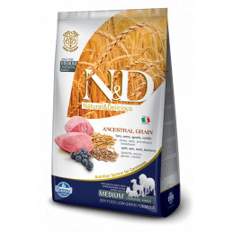Farmina n&d low grain cane medio farro avena agnello mirtillo 12 kg -