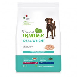 TRAINER Natural Ideal Weight Care Medium & Maxi Adult con Carni Bianche 3 kg. -