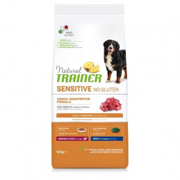 TRAINER Natural Sensitive No Gluten Medium & Maxi Adult con Agnello 12 kg. -