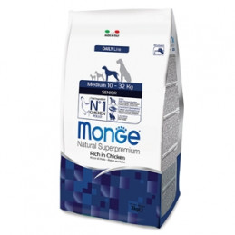MONGE Natural Superpremium Medium Senior Ricco di Pollo 3 kg. -