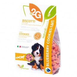 2G PET FOOD GUIDOLIN GIANNI Cookies con Mirtilli, Yogurt e Fiocchi d'Orzo 350 gr. -