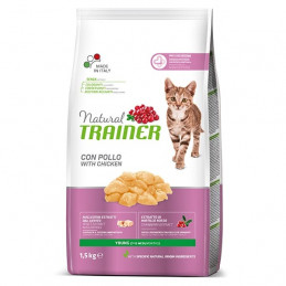 TRAINER Natural Young Cat con Pollo Fresco 1.5 kg. -
