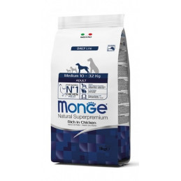 Monge cane adult medium al pollo 12 kg -