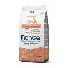 Monge cane adult all breeds salmone e riso 12 kg -