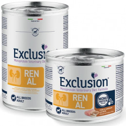 EXCLUSION DIET Renal Adult All Breeds con Maiale, Sorgo e Riso 200 gr. -