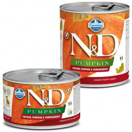 FARMINA N&D PUMPKIN Puppy con Pollo, Zucca e Melograno 140 gr. -