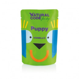 NATURAL CODE Puppy Pouch Agnello 100 gr. -