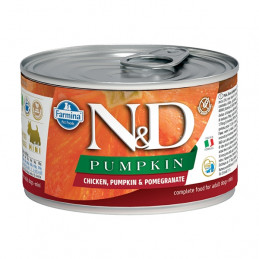 FARMINA N&D PUMPKIN Mini con Pollo, Zucca e Melograno 140 gr. -